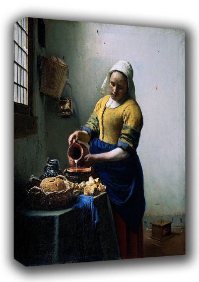 Johannes Vermeer: The Milkmaid. Fine Art Canvas. Sizes: A3/A2/A1 (001841)